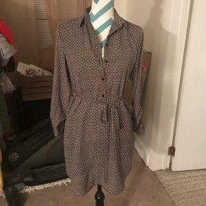LOFT Tunic Tie-Waist Dress